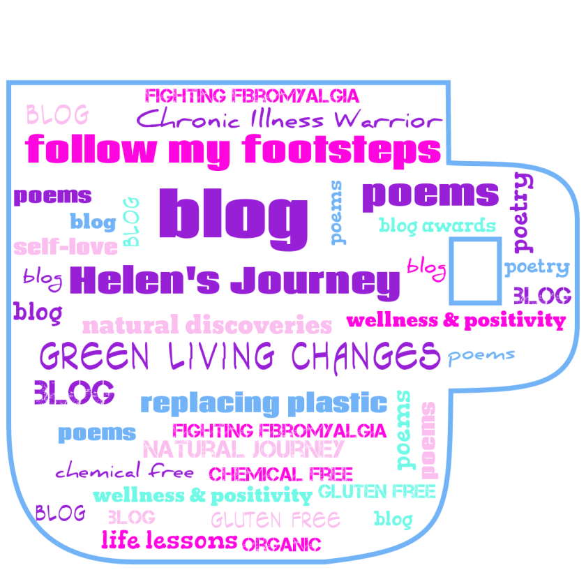 Helen's Journey - a blog about green living, natural produc reviews, chronic illness, wellness, positivity, self love, spiritual soul food and my poetry.