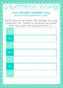 Helens Journey Gratitude Diary
