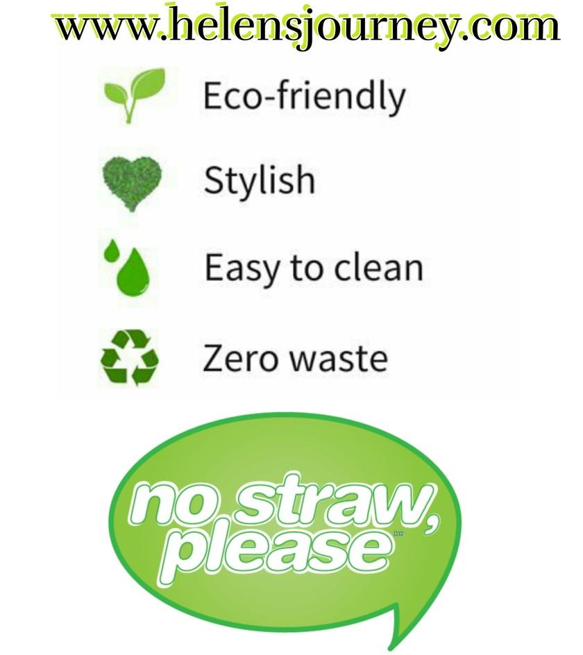 Say no to plastic straws use eco-friendly straws
