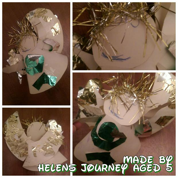 christmas angel made by helens journey aged 5