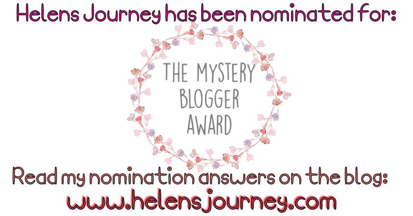 helens journey blog wins mystery blogger award