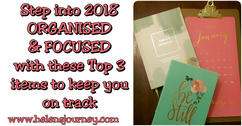 step into the new year organised and focussed with these top 3 items to keep you on track