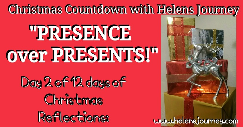 A christmas life reflection about the importance of peoples presence over presents
