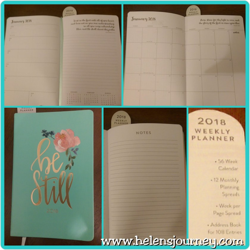 Stay organised with a weekly planner diary in 2018 by helens journey
