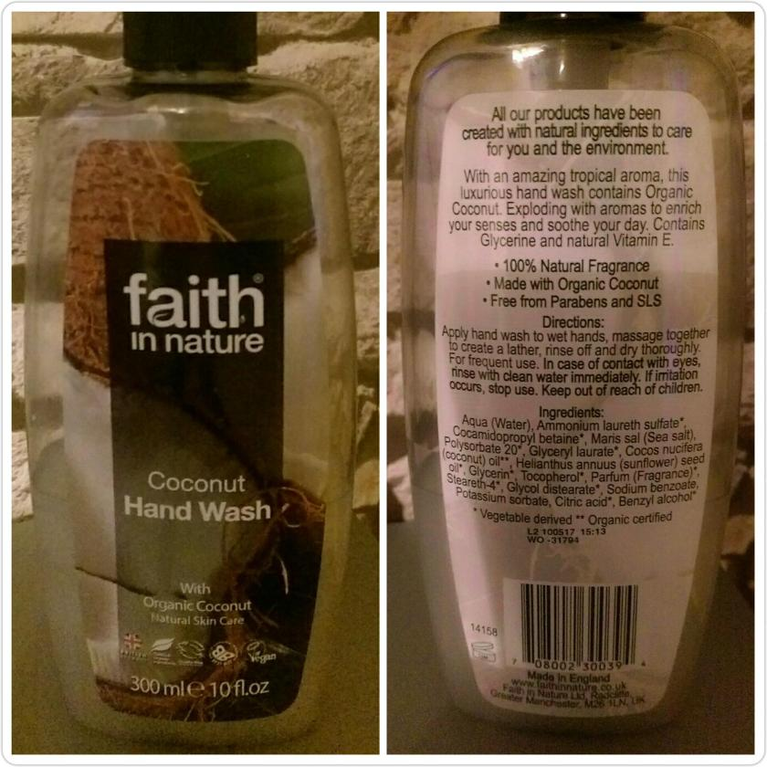 faith in nature coconut natural hand wash review by Helen's Journey