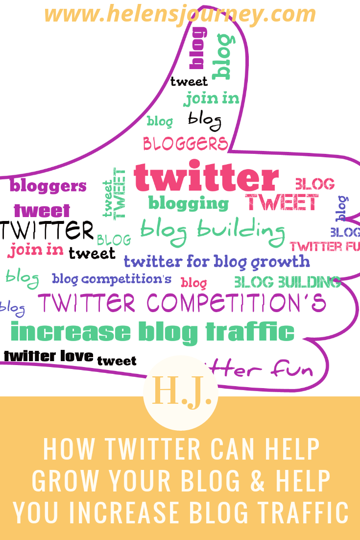 How Twitter can help GROW YOUR BLOG and help you INCREASE BLOG TRAFFIC - blog by Helen's Journey www.helensjourney.com