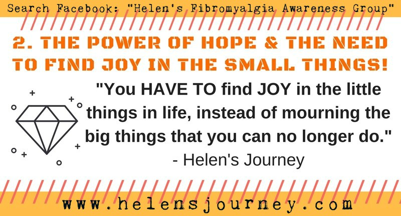 no2 life lessons of chronic illness infographic Helen's Journey blog www.helensjourney.com with web link to Helen's Fibromyalgia Awareness Facebook Group