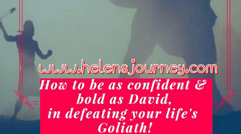 an encouraging blog post to have you feeling ready and confident in facing whatever giants life throws at you! just like David defeating the giant Goliath!