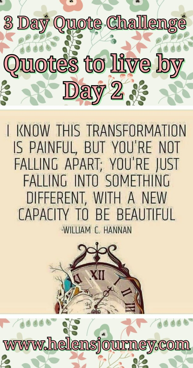 encouraging quote for day 2 of the 3 day quote challenge by helen's journey blog wwwhelensjourney.com