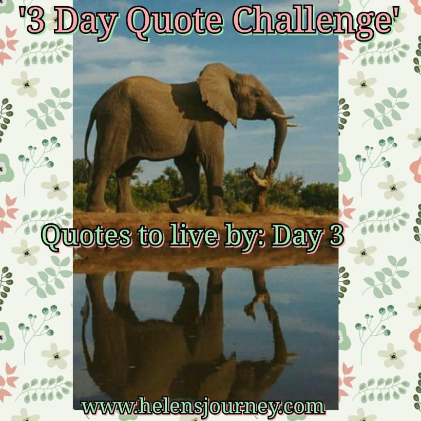 quote for world earth day. day 3 of 3 day quote challenge by helens journey blog www.helensjourney