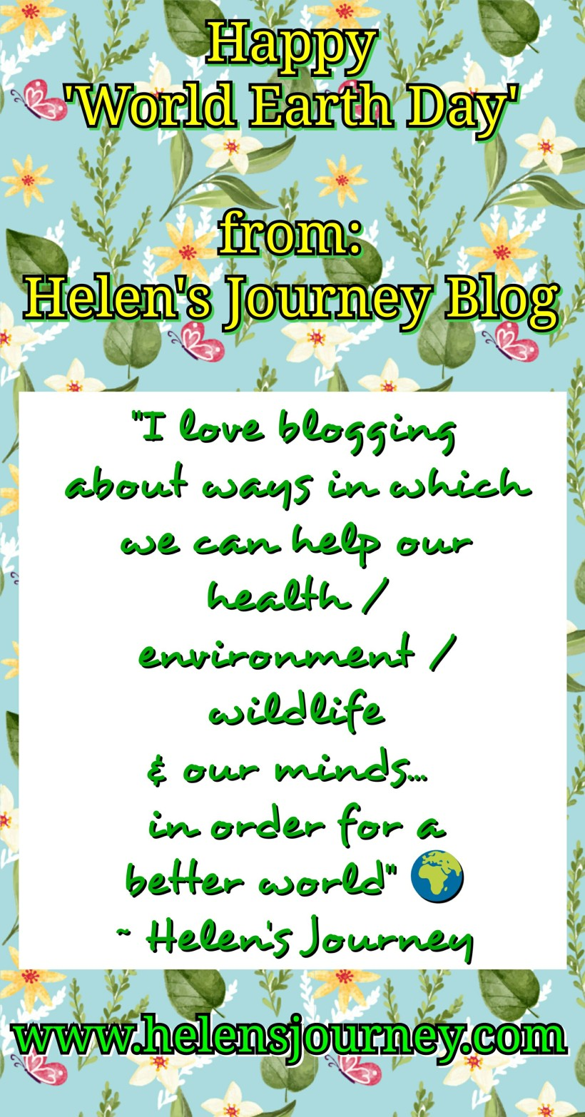 happy world earth day message from Helen's Journey Blog and a blog post all about what world earth day is