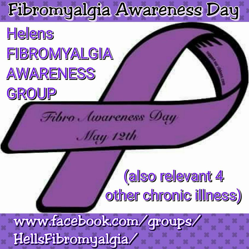 Helen's Fibromyalgia Awareness and Support Group on facebook for chronic illness sufferers