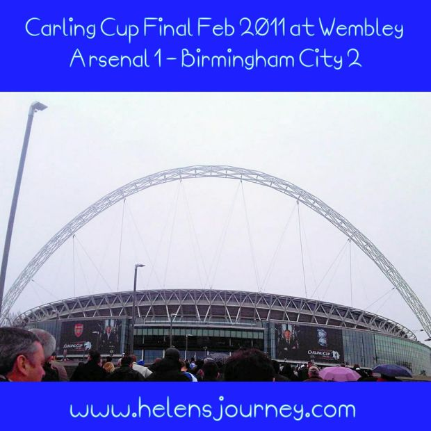 Helen's Journey Blog at wembley watching birmingham city fc beat arsenal 2 - 1