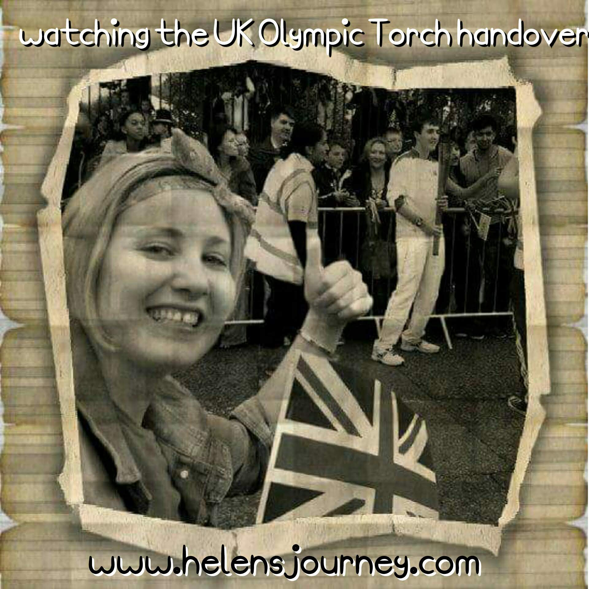 Helen's Journey blog watching the olympic torch handover in UK