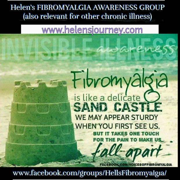 living with fibromyalgia. helens fibromyalgia awareness support group on facebook