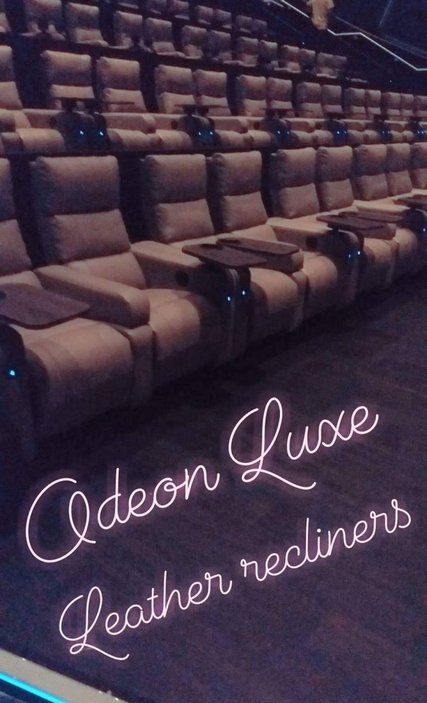 making films more assessable for people with physical ailments. review of odeon luxe cinema with leather recliner chairs by Helen's Journey Blog www.helensjourney.com