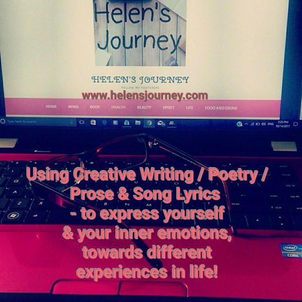 writing therapy. a blog post about using creative writing, poetry, prose and song lyrics, to express yourself and your emotions in reaction to life events