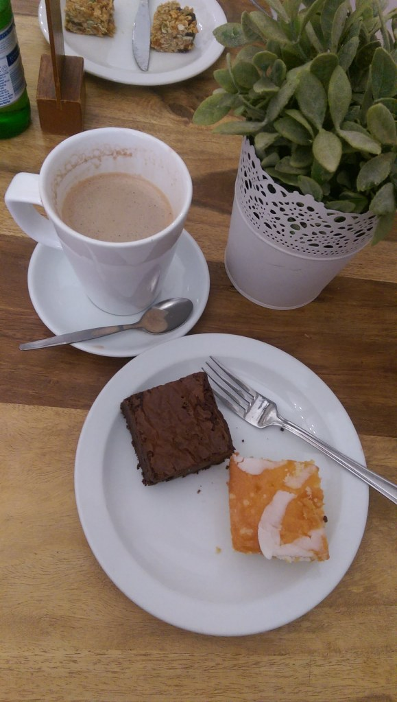 gluten free cakes in Kirkstall Abbey visitor centre cafe. read the full review of this free day out in Leeds by Helen's Journey Blog