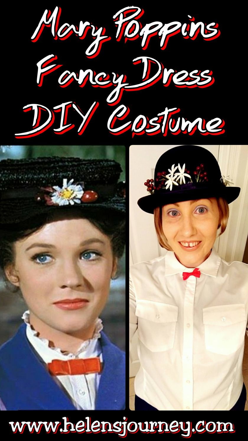 DIY Mary Poppins Hat for a Fancy Dress Costume by Helen's Journey Blog www.helensjourney.com