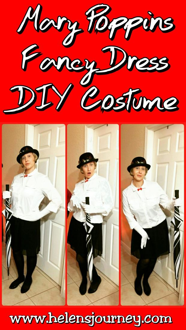 get into character with this DIY Mary Poppins Fancy Dress Costume tutorial blog by Helen's Journey www.helensjourney.com