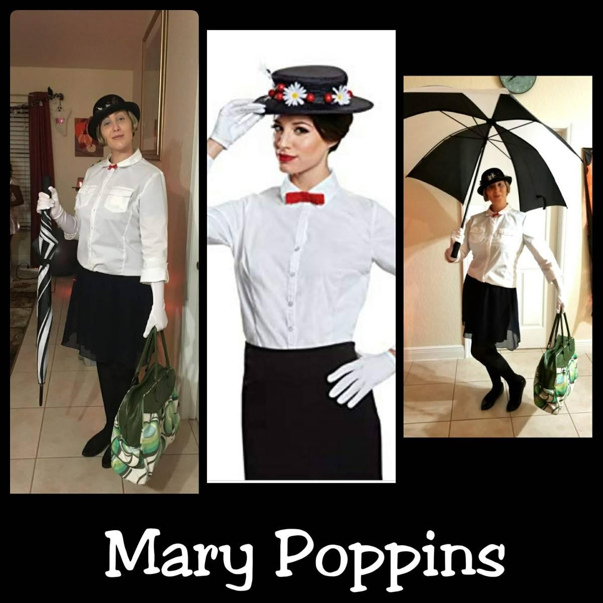 Mary Poppins Fancy Dress Costume D I Y Tutorial Guide Helen S Journey