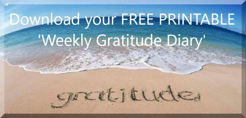 Download your free printable weekly gratitude diary at www.helensjourney.com