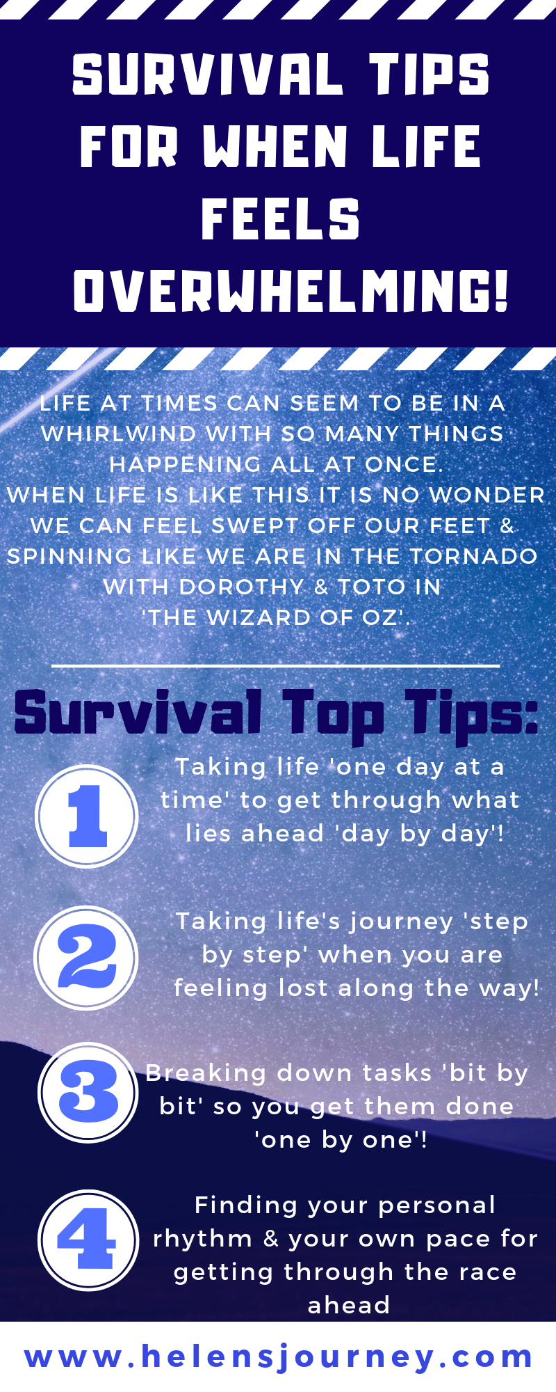 top survival tips for when life feels overwhelming by helen's journey blog