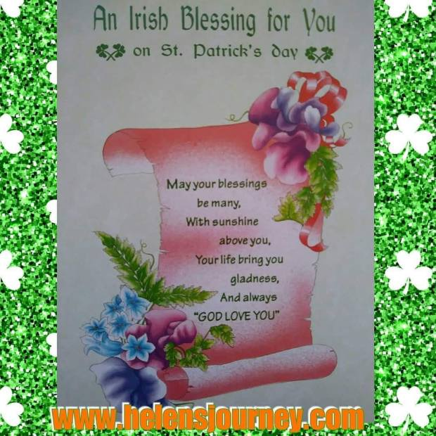 An irish blessing for you on saint patricks Day