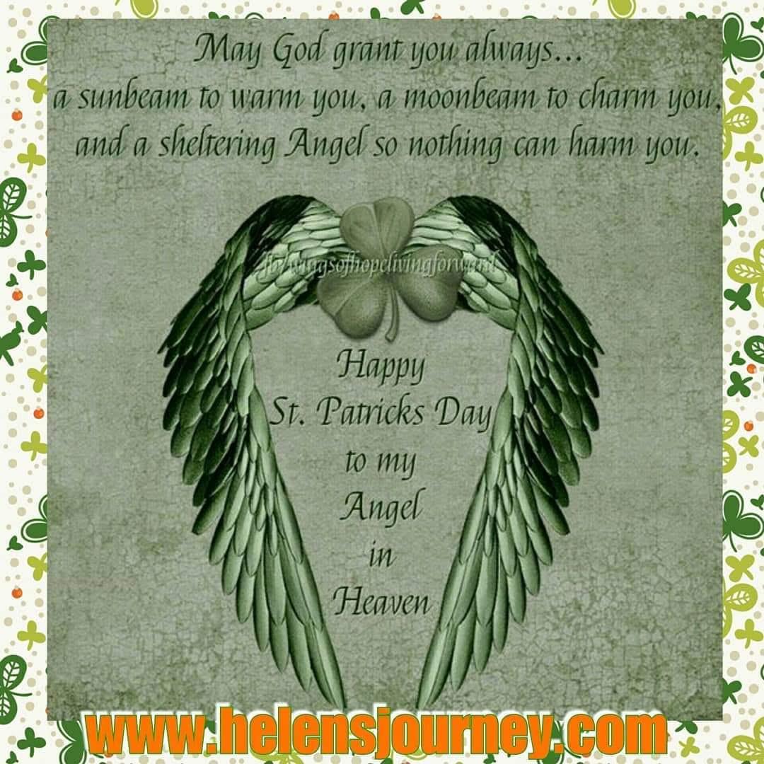 happy saint patricks day to my angel in heaven