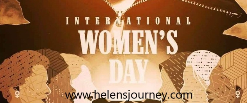 international women's day celebration post and poem about the power of a woman by Helen's Journey Blog