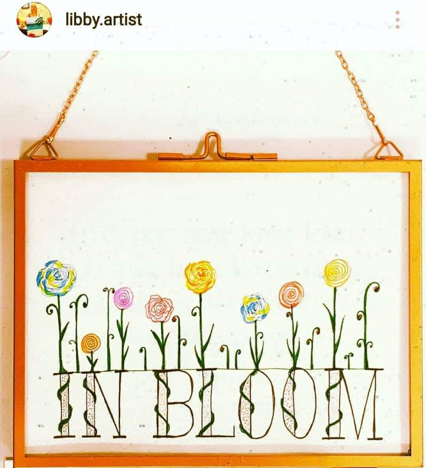 commissioned art piece by @libby.artist om Instagram, who did a personalised piece of art for my focus word for this year IN BLOOM