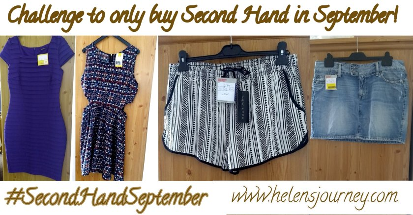 'Second Hand September' challenge to only buy second hand clothes for the 30 days of september to help with sustainable fashion not fast fashion! by www.helensjourney.com