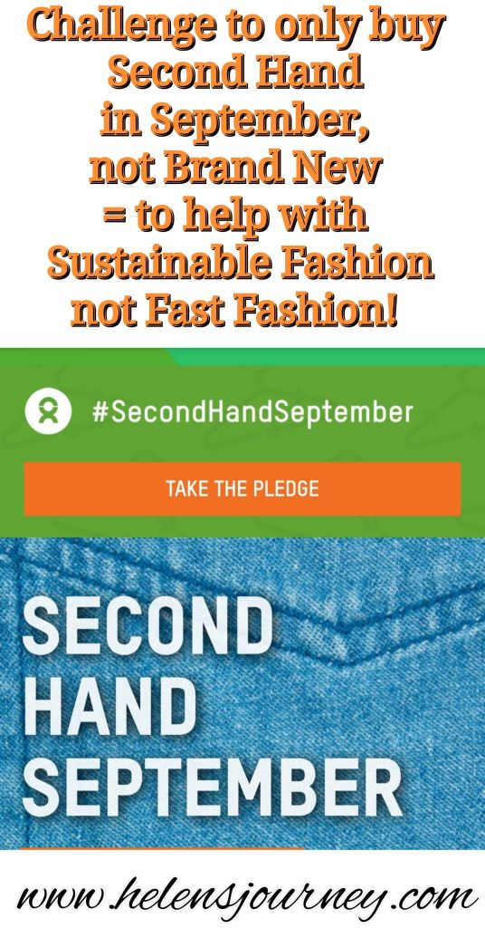 'Second Hand September' Oxfam challenge to only buy second-hand clothes for the 30 days of September to help with sustainable fashion, not fast fashion! by www.helensjourney.com