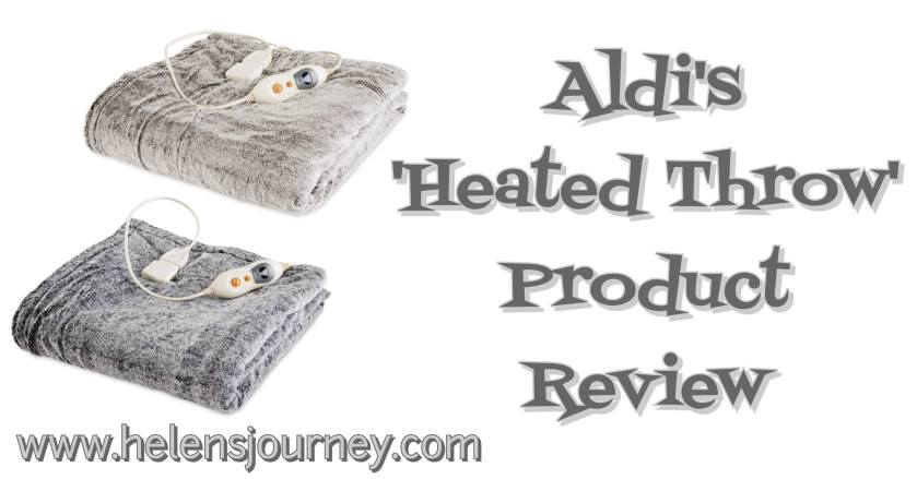 A product review for Aldi's heated throw by a happy warm customer