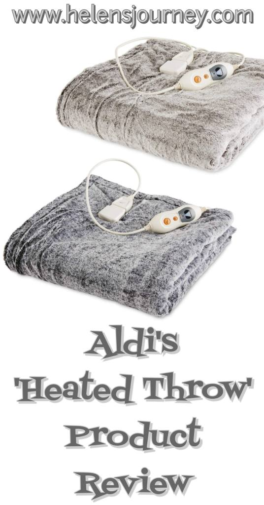 Aldi's heated throw product review by a happy warm customer 'Helen's Journey Blog'