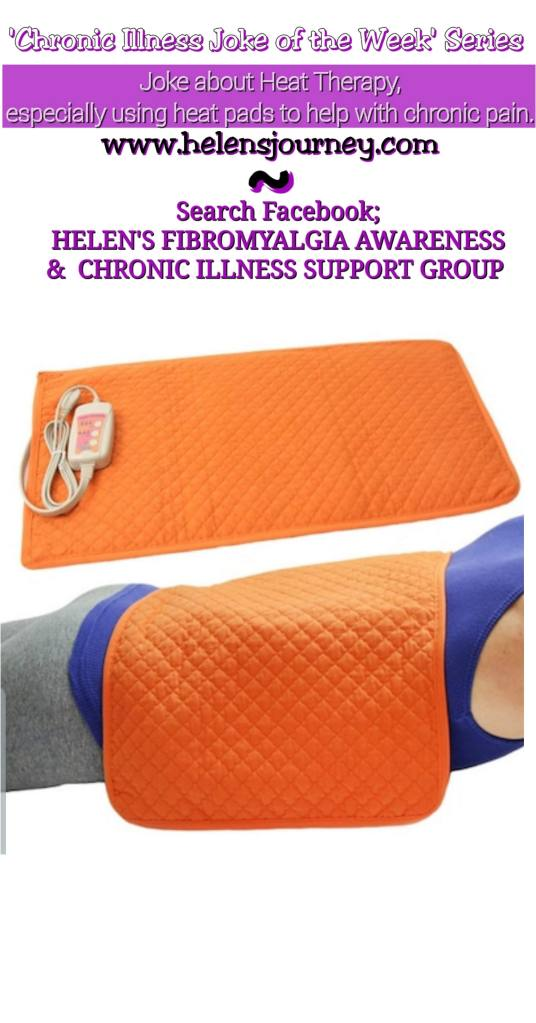 chronic illness joke of the week series, joke about using electric heat pads for chronic pain