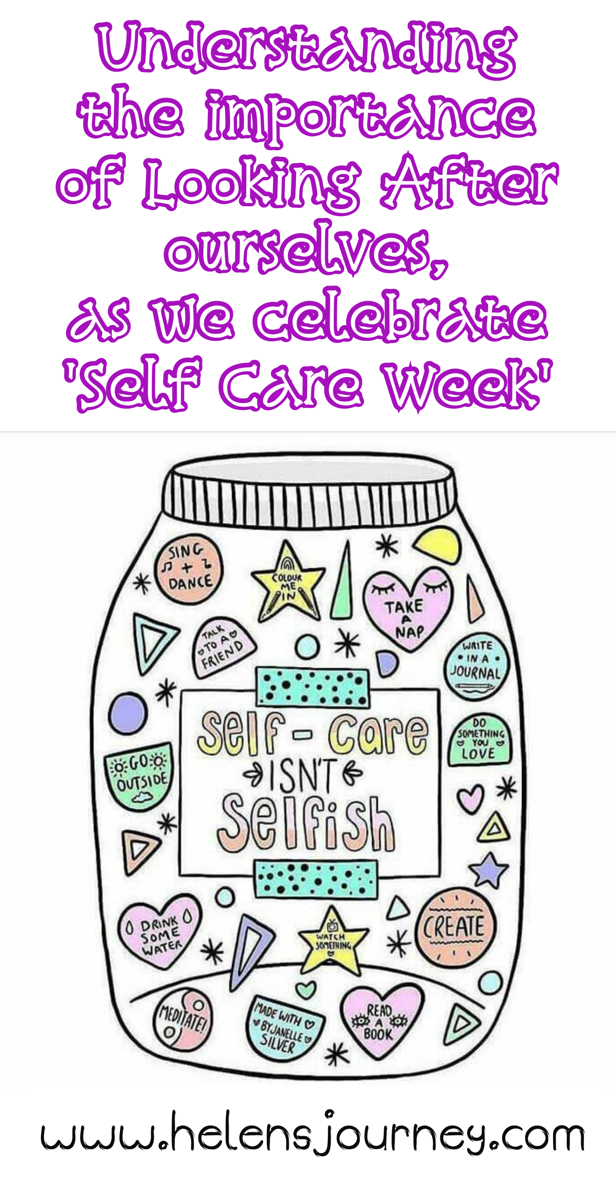self-care isn't selfish. Understanding the importance of looking after yourself as we celebrate self-care week