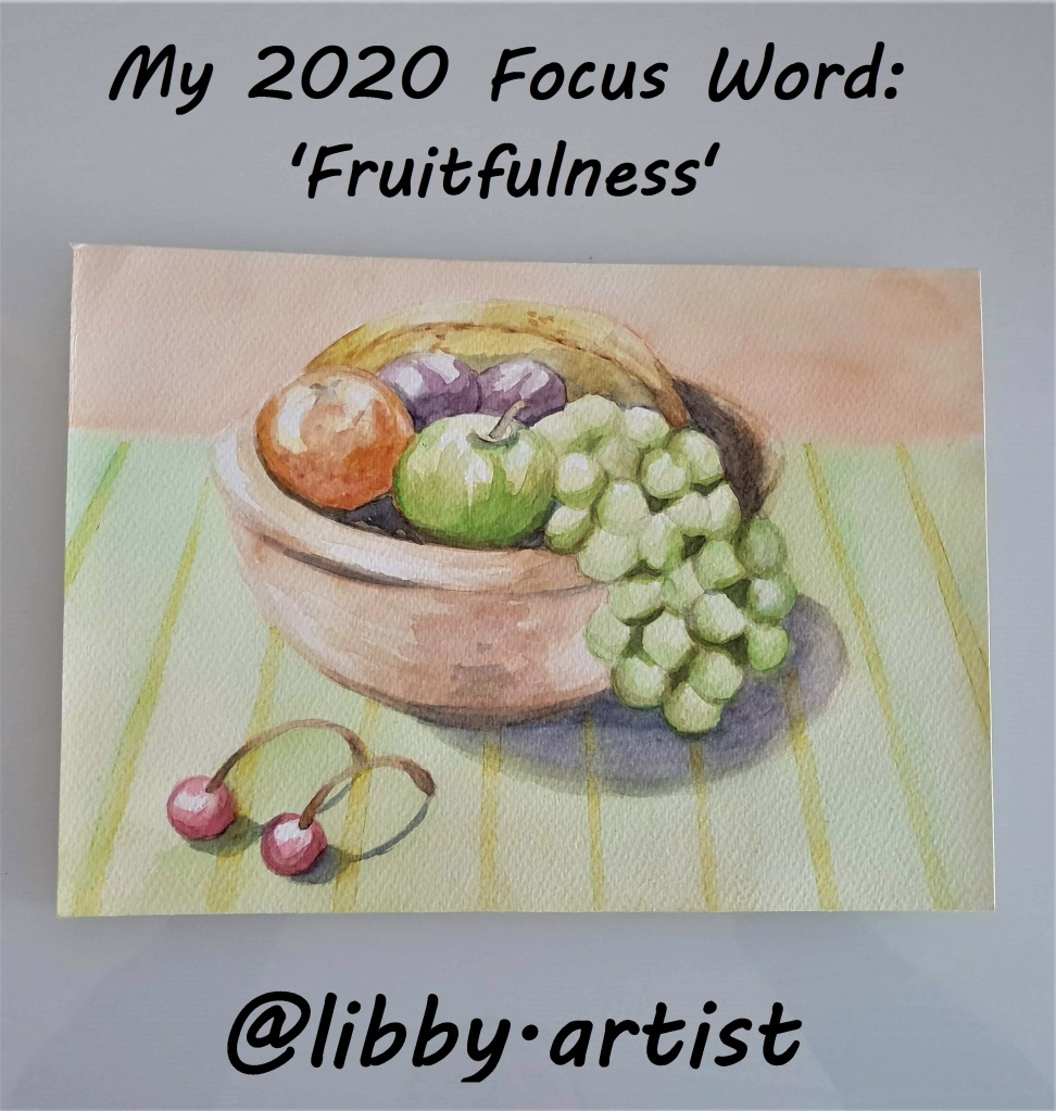 Why you should choose a FOCUS WORD for the year ahead and how you can use that FOCUS WORD to keep you centred and fixed on your goal by www.helensjourney.com (personalised painting by @libby.artist on instagram)