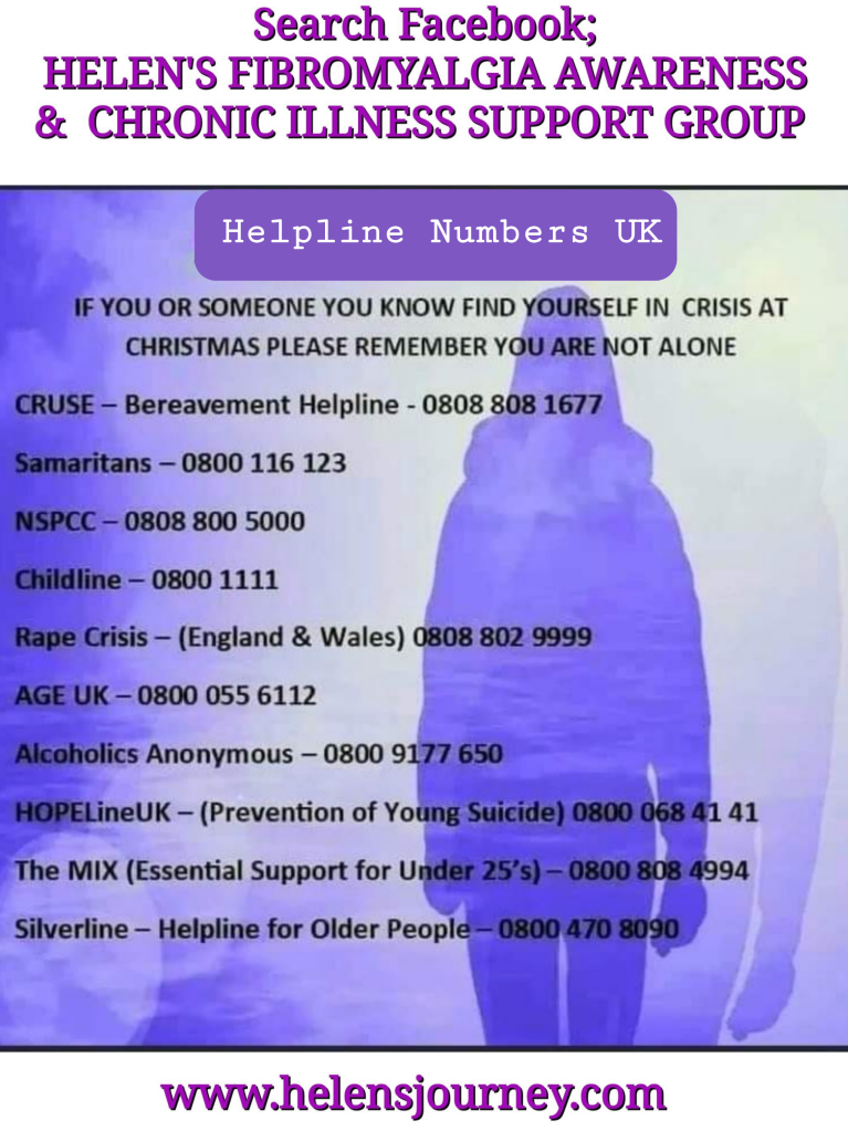 UK helpline numbers for mental health and crisis